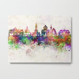 Zakopane skyline in watercolor background Metal Print