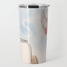 Some hearts live in cages...But some break free Travel Mug