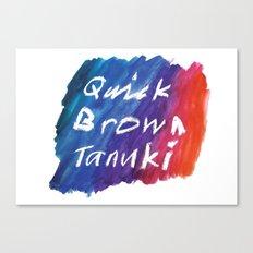 Quick Brown Tanuki Canvas Print