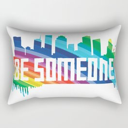 Be Someone - HTX - Rainbow Rectangular Pillow