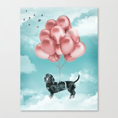 Dachshund Drift Canvas Print