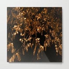 Bronze Giger Leaves Metal Print