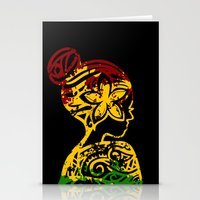 rasta Stationery Cards featuring Rasta Lady by Lonica Photography & Poly Designs