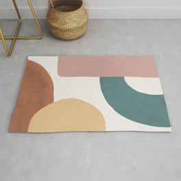 Abstract Earth 1.2 - Painted Shapes Rug