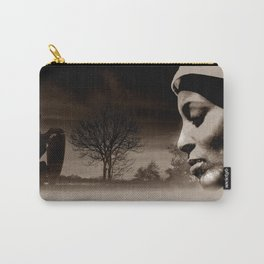 TALK TO THE LION... - sepia Carry-All Pouch