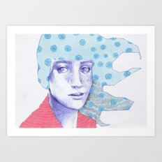 Flowery 03 Art Print