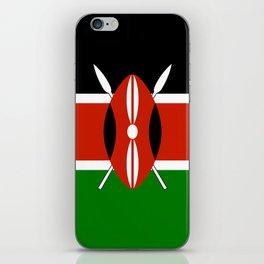 Kenyan national flag - Authentic version iPhone Skin