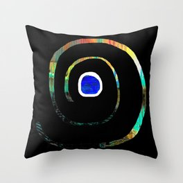 Spiral color Throw Pillow
