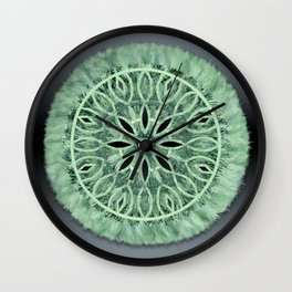 Mint Green 3D Faux Embroidery Wall Clock