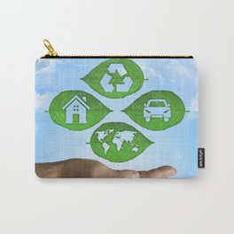 recycling eco concept Carry-All Pouch