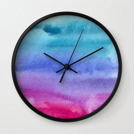Watercolor vibes #7 Wall Clock