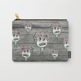 headache wood moustache man Carry-All Pouch