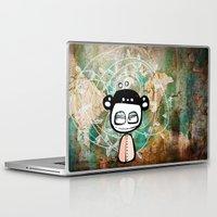 grunge Laptop & iPad Skins featuring grunge by wet yeti
