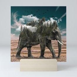 Elephant World Mini Art Print