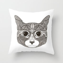 Mia The Cat Throw Pillow