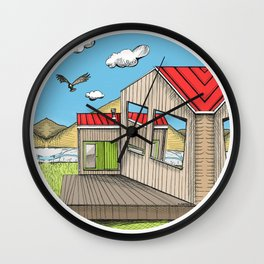 Skewed by Debbie Porter - Designs of an Eclectique Heart Wall Clock