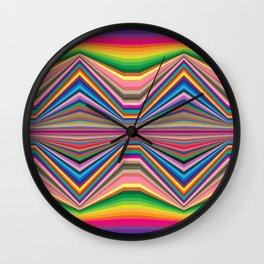 Colorful optic work Wall Clock