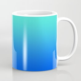 Bright Turquoise Blue Lagoon Ombre Coffee Mug