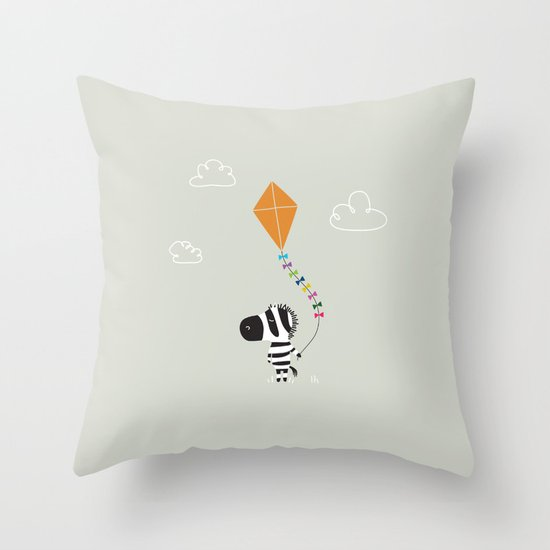 The Happy Childhood Throw Pillow