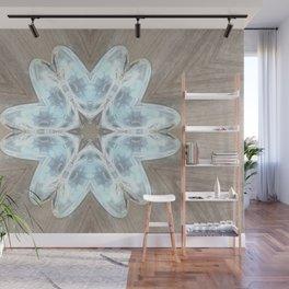 Glass Star Flower Wall Mural