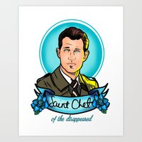 Saint Chet of the Disappeared Art Print