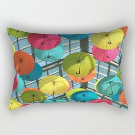 Rainbow Umbrella Rectangular Pillow