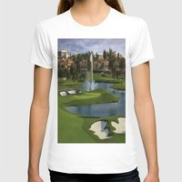 golf T-shirts featuring GOLF COURSE by aztosaha