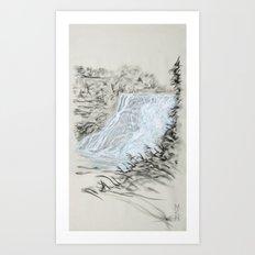 Local Gem # 6 - Ithaca Falls Art Print