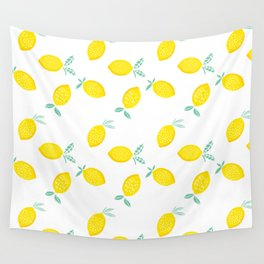 Squeeze The Day Lemon Wall Tapestry