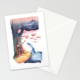 The fish and the troubadour Stationery Cards