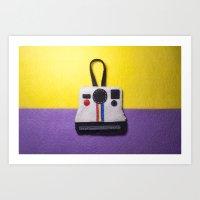 Felt Polaroid Art Print