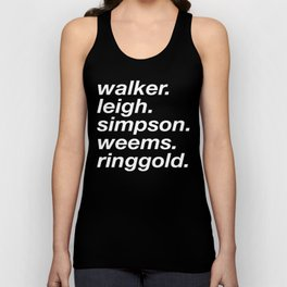 WOC curators and artists (black version) Unisex Tank Top