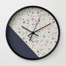 Pez Otomi dark by Ana Kane Wall Clock