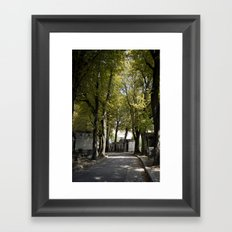 Cimetiere de Montmartre Framed Art Print