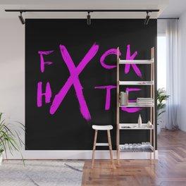 FXCK HXTE - Pink Paint Wall Mural