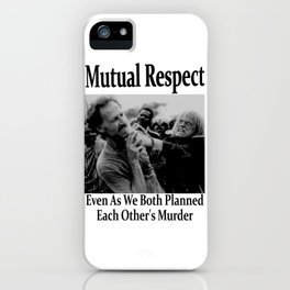Werner Herzog and Klaus Kinski's Mutual Respect iPhone Case