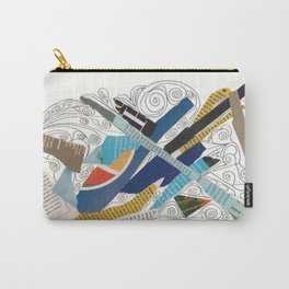 Multicolor collage doodle 501 Carry-All Pouch