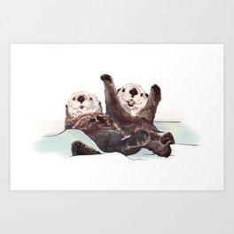 Otter Time Art Print