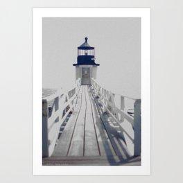 Maine Lighthouse Art Print