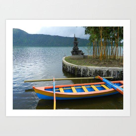 Boat on Still Water Art Print