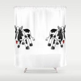 Steel Drum Friesian cow. Shower Curtain