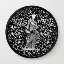 Ceasar Print Wall Clock