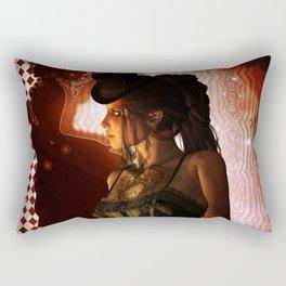 Wonderful steampunk lady Rectangular Pillow