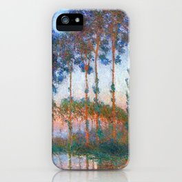 Claude Monet: Poplars on the banks of the River Epte, Sunset iPhone Case