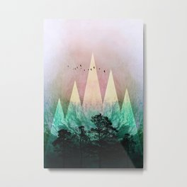 TREES under MAGIC MOUNTAINS IV Metal Print