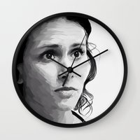 melissa smith Wall Clocks featuring melissa ponzio by Finduilas