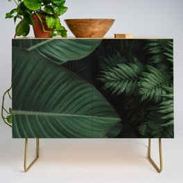Tropical Beauty // Tropical Boho Leaves meets Minimalist Patterns Credenza