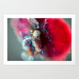 Crystal Orchid Sparkles Art Print