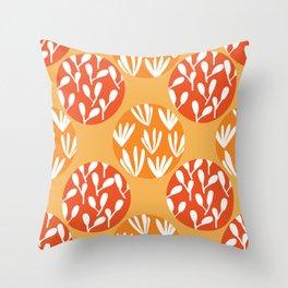 botanical circles Throw Pillow