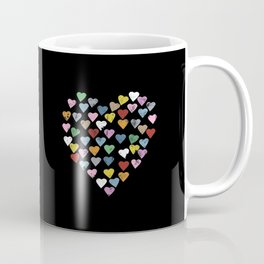 Distressed Hearts Heart Black Coffee Mug